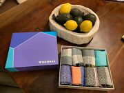 8-pack Bombas Gift Box Tri-color Ankle Socks 8-pairs - Womenand039s Medium