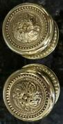 Antique Pair Of Vintage P E Guerin Louis Xvi Pattern Brass Door Knobs And Rosettes