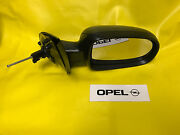 New Mirror Right Opel Corsa C + Combo Black Kpl With Glass And Cover