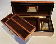 Reuge Large Musical Jewelry Box Playing 36 Note Movement - The Four Seasons