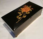 Reuge Musical Jewelry Box Playing 18 Note Movement - Can You Feel The Love