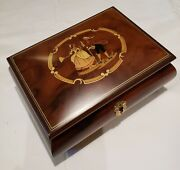 Reuge Musical Jewelry Box Playing 18 Note Movement - Waltz Of The Flowers