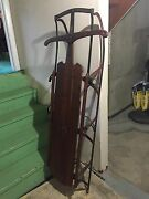 Antique Flexible Flyer Sled 64 Gently Used Steel Frame Collectors Item