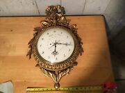 Large Carved Austrian Wall Clock Silk Thread Movement Calendar Signed On Dial