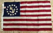 Lot Of 3 Yacht Anchor And Stars Flag Dura Lite Boat 13 Stars Nautical Yellow Flags