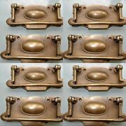 8 Cabinet Handles Brass Furniture Vintage Old Style 95mm Antiques Watson 517 B