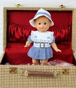 Patsy Exact Replica Of A 1933 Effanbee Doll 1996 Trunk 2 Outfits Stand Heart Coa