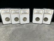 Group Of 5- 2006 South Dakota Quarters P And D Special Mint Sets Ngc Ms66 And Ms67