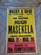 The Temtations Hugh Meskela Whisky A Go Go 1960s Boxing Style Concert Poster