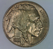 1938 D Buffalo Nickel Choice Uncirculated Five Cents United States Bison 5 C 1