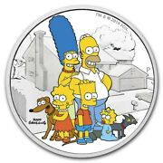 2 Oz Silver Proof The Simpsons Family .9999 Pure/fine Limited Bart Maggie Homer