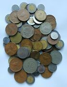 Mexico Coin Lot 2 Pounds+ Bag. Circulated, Diff. Values And Dates, Vg To Au.