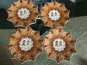 New Set Of 4 Villeroy And Boch Ginger Fancy Star Gingerbread Boy Girl Mini Plate