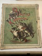 Vintage 1800and039s Mcloughlin Bros Bk. - The 3 Little Kittens Mounted On Linen