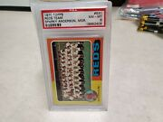 1975 Topps 531 Sparky Anderson - Reds Team Checklist Psa 8 - Nm/mt T790