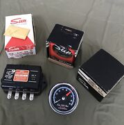 Nos Sst-709 Sun Super Tachometer And Nos Transmitter And Nos Mounting Cup All Mint