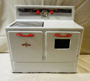 Vintage Mid Century 1950's Little Chef Tin Toy Play Stove And Ovens