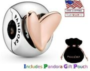New Authentic Pandora Sterling Silver S925 Ale Freehand Heart Clip Charm