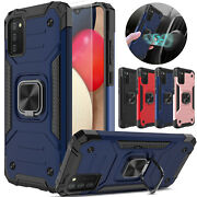 For Samsung Galaxy A02s Case Shockproof Ring Stand Cover/glass Screen Protector