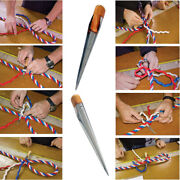 Stainless Steel Rope Splicing Tool Spike Fid With Smooth Wood Handle-for Ropes