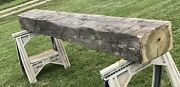 1880 Vintage Rustic Reclaimed Barn Wood Hand Hewn Beam Cabin 8andrsquo Fireplace Mantel