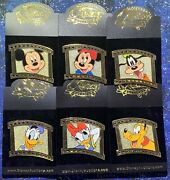 Disney Auctions Film Reel Series Complete Set Of 6 Le 100 Pins Moc From 2002