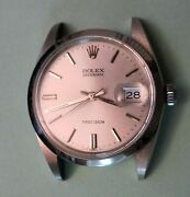 Vintage Authentic Rolex Oyster Date 6694 Original Gloss Silver Dial