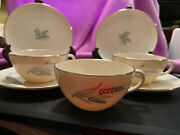 Lenox Symphony Pattern 3 Flat Cups And Saucers 2 Bread/butter Plates