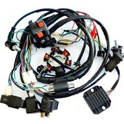 Electric Wiring Harness Kit Magneto Stator For Gy6 150cc Atv Quad Scooter Gokart
