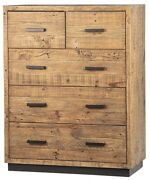 47 T Stewart Dresser Solid Wood Five Drawer Reclaimed Pine Traditional