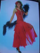Flapper Costume Size Med, Includes Dress, Nk, Boa, Feather Headband