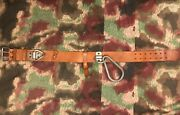 Rare Cold War Czech Civil Defence Rescue Firemanand039s Leather Rigger Belt