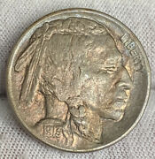 1913-d Buffalo Nickel T2 Unc Nicely Toned
