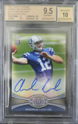 Bgs 9.5 - 2012 Topps Chrome Andrew Luck 1 Rc Rookie /25 Black Refractor Auto 10