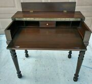 S.e. Shaw Antique Secretary Spinet Desk Flip Top Writing Table Early 1900's