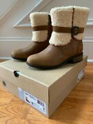 Ugg Blayre Ii Women's Leather Mid-calf Short Boots Chestnut Brown Size Us 7