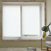 [4pack] White-rv Trailer Pleated Blind Shades 35x90, Cordless Self Blinds