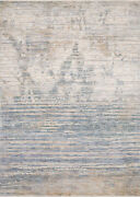 9and039 6 X 12and039 5 Loloi Rug Pandora Ivory Blue 100 Polyester Power Loomed