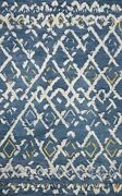 9and039 3 X 13and039 Loloi Rug Symbology Denim Dove 100 Wool Pile Hand Knotted