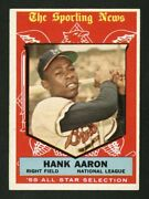1959 Topps 561 Hank Aaron All-star The Best One On Ebay Up To 150 Great Color