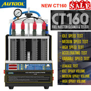 Ct160 4-cylinders Car Ultrasonic Fuel Injector Cleaner Nozzle Gasoline Tester