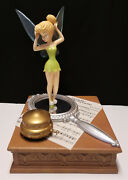 Disney Big Fig Figure Tinkerbell On Mirror 'you Can Fly' Trinket Music Box 25
