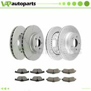 Brake Pads And Rotors Front Rear For Mercedes-benz Glk250 2013 - 2015 Drilled