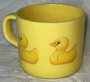 Mighty Vintage Dept 56 Super Cute Yellow Just Ducky Coffee Cup With Handle