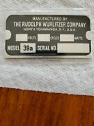 Reproduction Tag For A Wurlitzer Jukebox Type 39a Light-up Wall Speaker