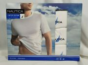 Nautica 3 Pack Crew Neck T-shirts S White Limited Edition 100 Cotton Ships Free