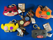 Fuggler Funny Ugly Monster Collectible Plush Clip-on, Very Cute Key Chain, Lot 5