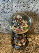Christmas Musical Globe Santa Claus Is Coming To Town Snow W Rotating Base Large