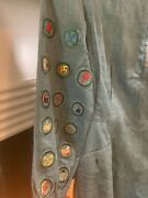 Rare 1920's Mccamey Texas Antique Girl Scout Dress Hand Stitched Patches