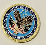 Sought After- Department Of Veterans Affairs-retired Chief-police Challenge Coin